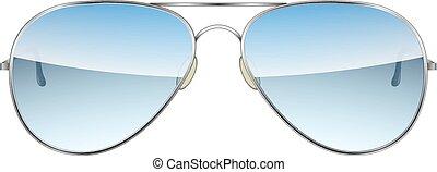 Gafas Aviadoras aisladas en un Vector de fondo blanco