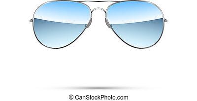 gafas de sol aviadoras aisladas en blanco. Vector