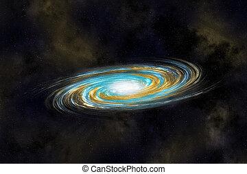 galaxia, multicolor, cosmos, espiral, profundo