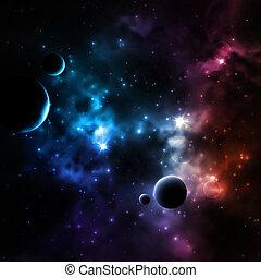 galaxia, plano de fondo