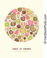 Galletas coloridas, decoración de círculos