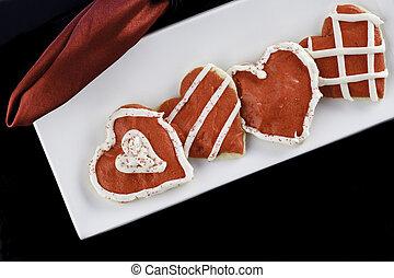 Galletas de corazón helado