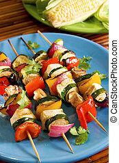 Galletas de verduras de tofu