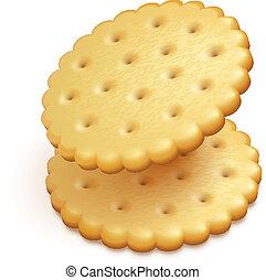 galletas, fresco, aislado, bocados