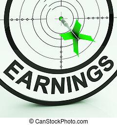 ganancia, dinero, ganancias, ingresos, empleo, exposiciones