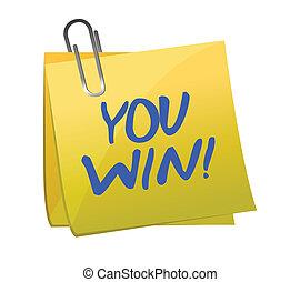 Ganas por escrito en un poste