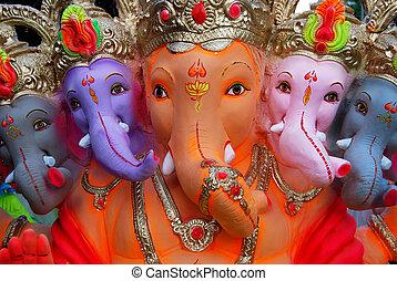 ganesh, dios, india, elefante