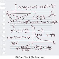 garabato, plano de fondo, álgebra