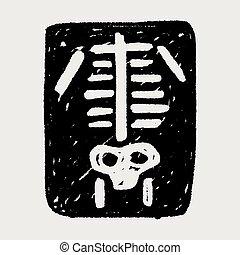 garabato, radiografía