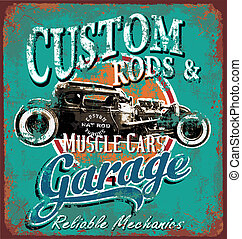 garaje, oxidado, barra, caliente