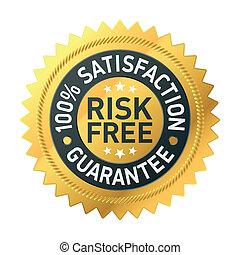 garantía, risk-free, etiqueta