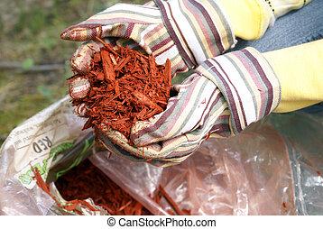 Gardening with Red Mulch