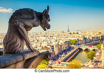 Gargoyle en la catedral de Notre Dame