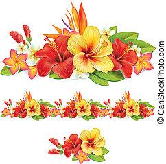 Garland de flores tropicales