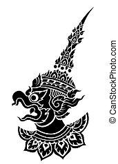 Garuda, vector de aves protectoras del rey