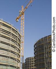 gas, construir, contenedores
