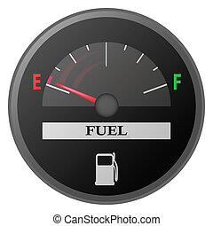 gasolina, coche, metro, arranque, calibrador, tabla, combustible