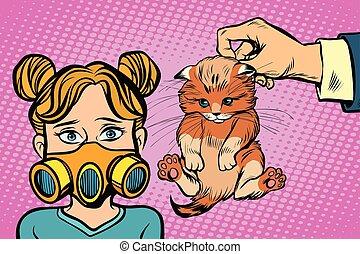 gato, alérgico