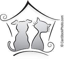 gato, perro, refugio