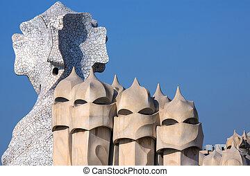 gaudi, -, arquitectura, barcelona, españa