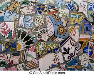 gaudi, mosaico