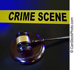 Gavel, la escena del crimen de la policía