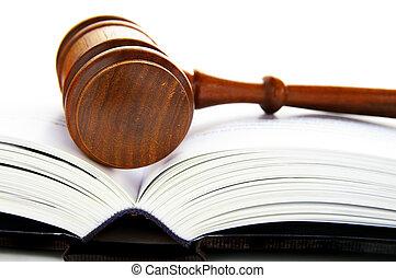 Gavel sobre un libro de derecho abierto