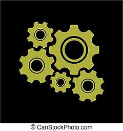 Gear o vector de icono