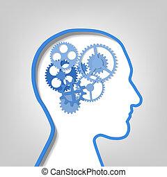 Gears en la cabeza humana