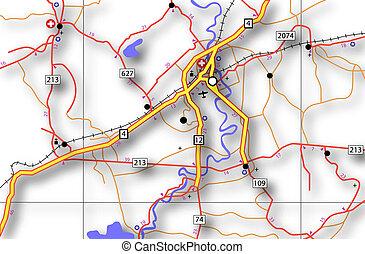 genérico, mapa de carreteras
