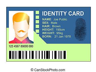 genérico, thumb-print, documentode identidad