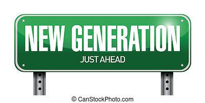 generación, ilustración, señal, diseño, nuevo, camino