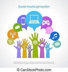 generación, medios, social