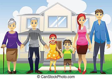 generación, multi, familia