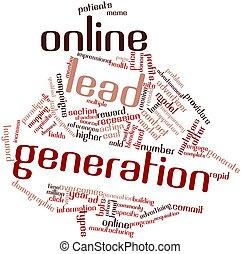 generación, plomo, en línea