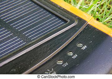 Generador de energía eléctrica solar pura energía, concepto de negocios