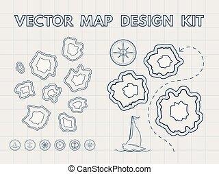 Generador de mapas antiguos Vector