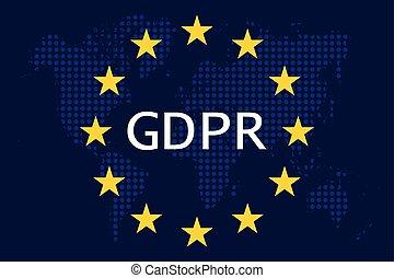 general, protección, regulación, (gdpr), datos