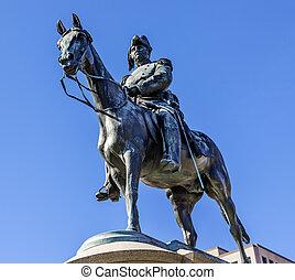 general, soctt, washington dc, estatua, winfield, scott, teniente, círculo