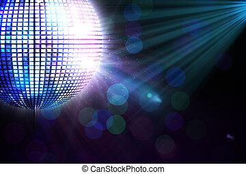 generar, disco, digitalmente, pelota