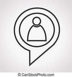 Gente ícono con habla de diálogo burbuja