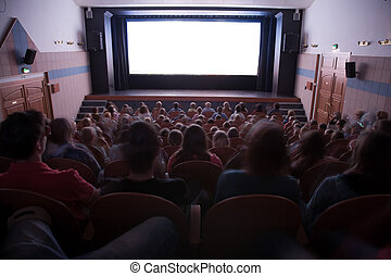gente, cine, auditorio