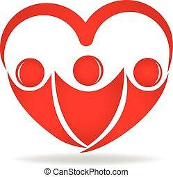 Gente con forma de corazón logotipo