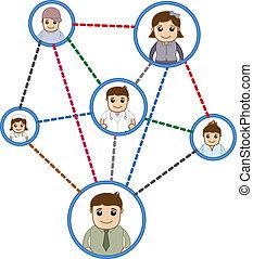 Gente conectada en la red