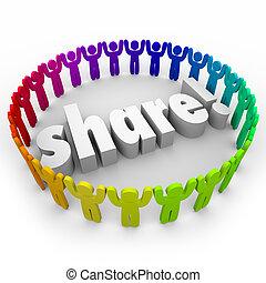 gente, dar, acción, juntos, porción, comunidad, unión, voluntario
