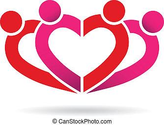 Gente de la comunidad del corazón