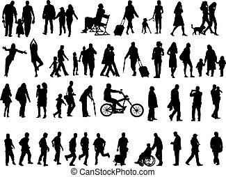 Gente de más de 50 siluetas