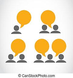 Gente de marketing viral de redes sociales