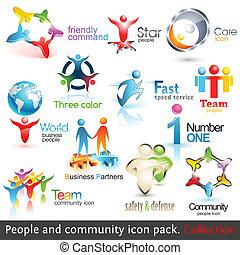 Gente de negocios 3d iconos. Elementos de diseño del vector