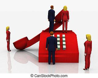 Gente de negocios al teléfono